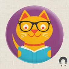 Magnet - Reading Cat
