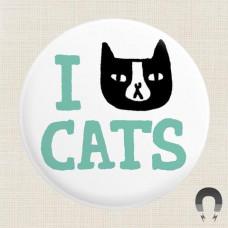 Magnet - I 'Cat' Cats