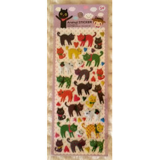 Colourful Cat Stickers