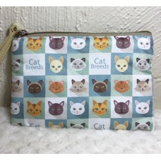 Cat Breeds Zip Up Pouch