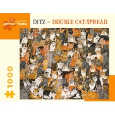 Ditz Double Cat Spread 1000 piece Puzzle