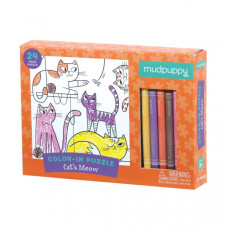 Colour in Puzzle - Cats Meow