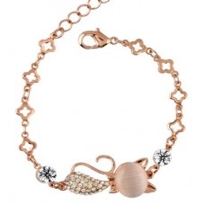 Rose Gold Cat Bracelet