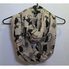 Silhouette Cat Infinity Scarf