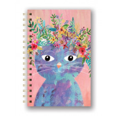 Fancy Cat Spiral Journal