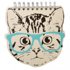Spiral Cat Head Notepad