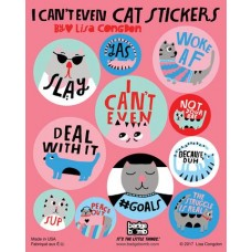 I Can't Even Cat Stickers