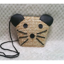 Sweet Straw Cat Bag