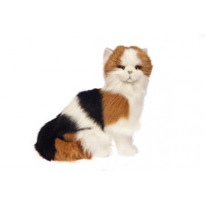 Calico Plush Cat Sitting