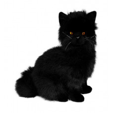 Black Plush Cat Sitting