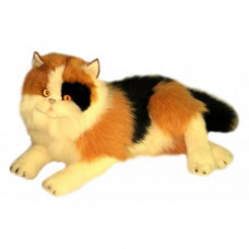 Calico Plush Cat Lying