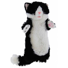 Black & White Plush Cat Puppet