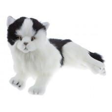 Black & White Plush Cat Lying