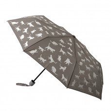 Grey Cat Fold Up Umbrella