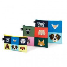 Cats & Dogs Zip Pocket Set