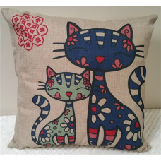 Blue Cats Cushion