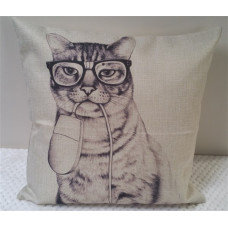 Cat and Mouse Cushion