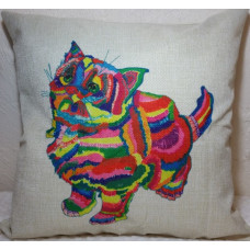 Rainbow Cat Cushion