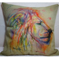 Watercolour Lion Cushion