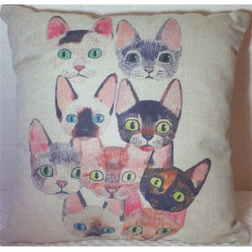 Nine Shades of Cat Cushion