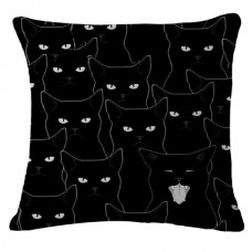 Black Cat Faces Cushion
