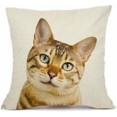 Bengal Cat Face Cushion