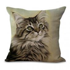 Longhaired Tabby Cat Cushion