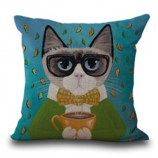 Cat Coffee Cushion #2