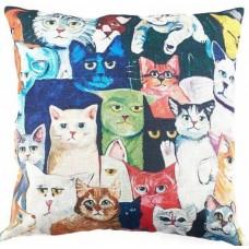 Colourful Faces Cushion