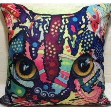Technicolour Cats Cushion #4