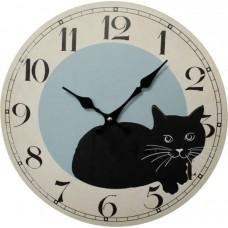 Black Kitty Clock