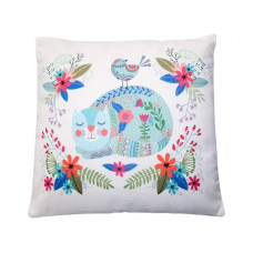 Tabitha Cat Floral Cushion