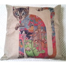 Abstract Colourful Cats Cushions