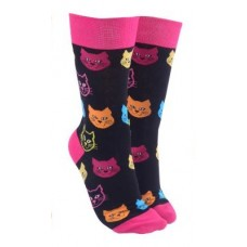 Cat Face Socks - Pink