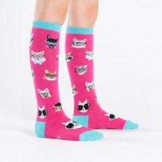 Kids Smarty Cats Knee High Socks