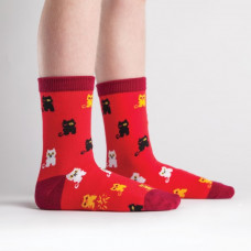 Kids Winking Cat Socks