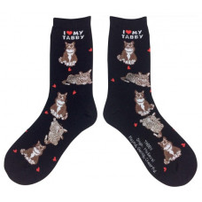 I Love My Tabby Socks